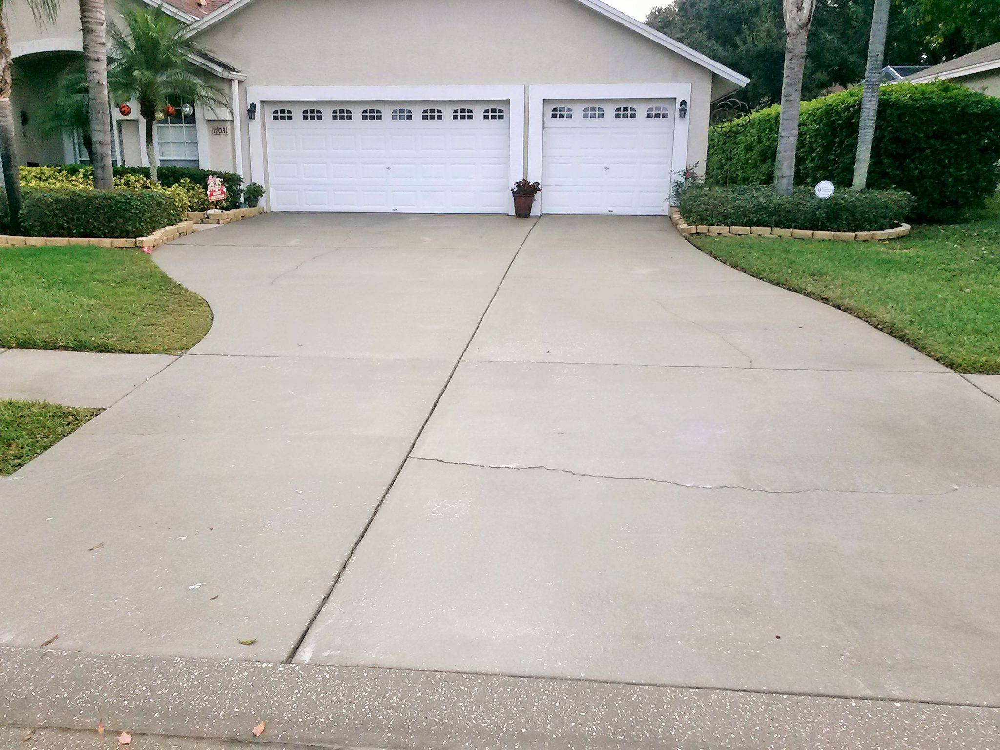 Odessa pressure washing after pressure washing services for Driveway pressure washer