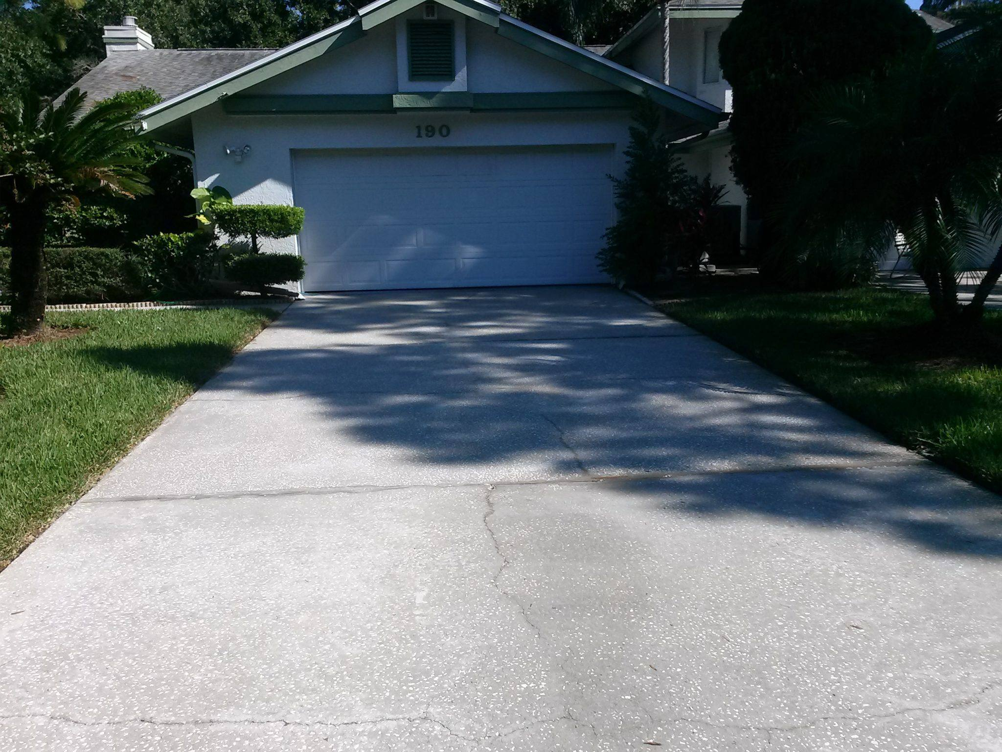 Pressure washing services oldsmar florida for Driveway pressure washer