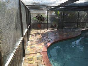 pool deck & enclosure cleaning-before-Palm Harbor