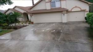 Dirty driveway in Palm Harbor