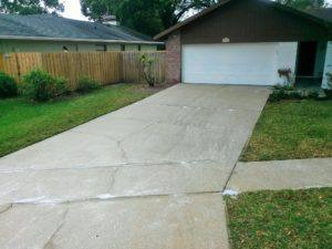 driveway after pressure cleaned in Carrollwood