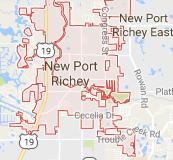 new port richey map