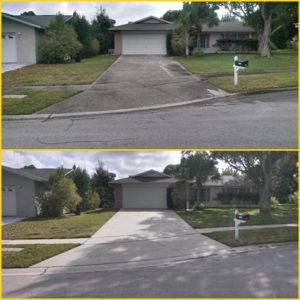 driveway pressure cleaned in Palm Harbor