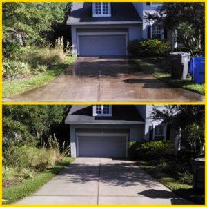 driveway pressure washing westchase driveway cleaning