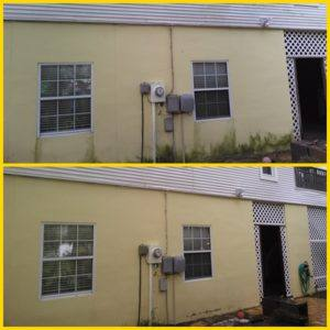stucco-low pressure cleaning-palm harbor-before and after