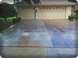 driveway cleaning in progress in clearwater