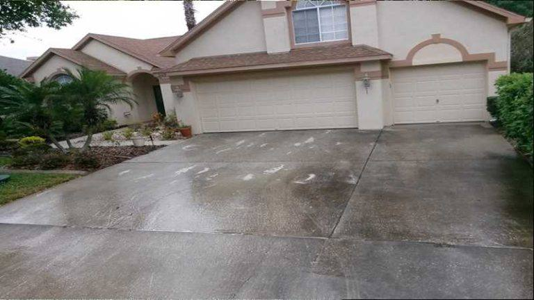 Pressure washing palm harbor one call cleans it all for Driveway pressure washer