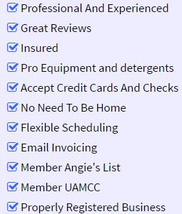 bullet list of benefits