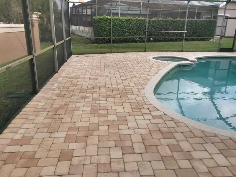 Pool deck and enclosure cleaning lanai and patio for Pressure clean pools