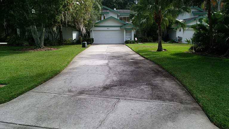 Pressure washing oldsmar fl driveways plus pressure for Clean driveway without pressure washer