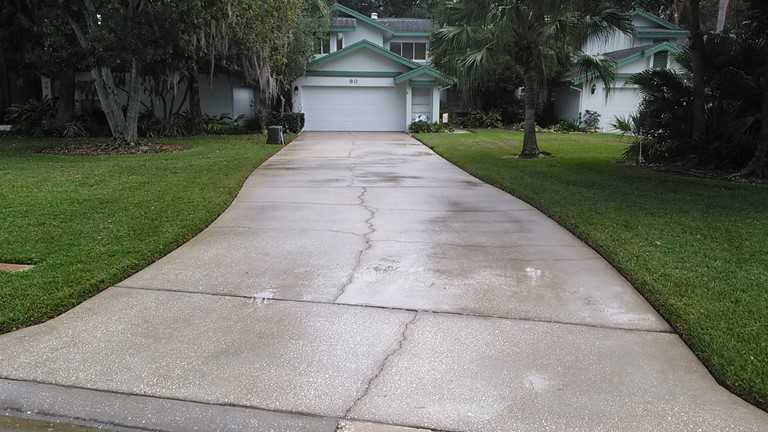 Driveway after pressure washing in Oldsmar
