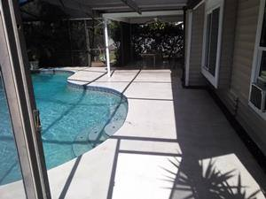 Cleaned pool deck-Clearwater